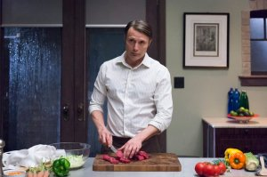 """HANNIBAL -- """"Mizumono"""" Episode 213 -- Pictured: Mads Mikkelsen as Hannibal Lecter -- (Photo by: Brooke Palmer/NBC)"""