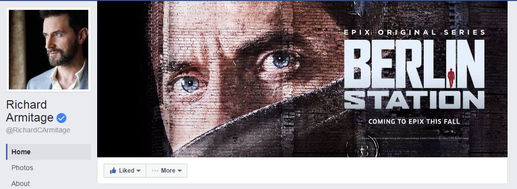 b44389fea3 Richard Armitage joined Facebook and Instagram