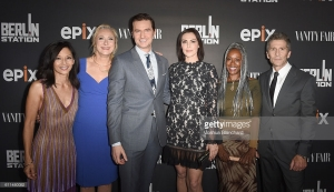 "attends EPIX ""Berlin Station"" LA premiere at Milk Studios on September 29, 2016 in Los Angeles, California."